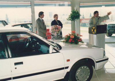 1988 Johann Katzlberger bei der Eröffnung in Tumeltsham