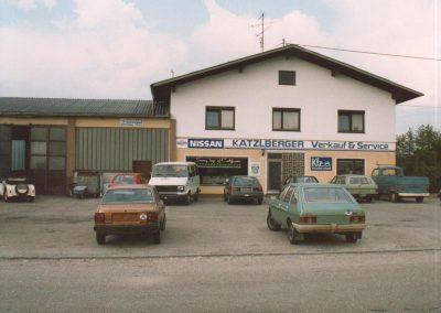 1981 Übernahme der Markenvertretung Datsun, später unbenannt auf Nissan