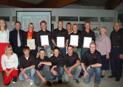 2008 Autohaus Katzlberber Team - Gewinner des NSSW Awards (Nissan Sales and Service Way)
