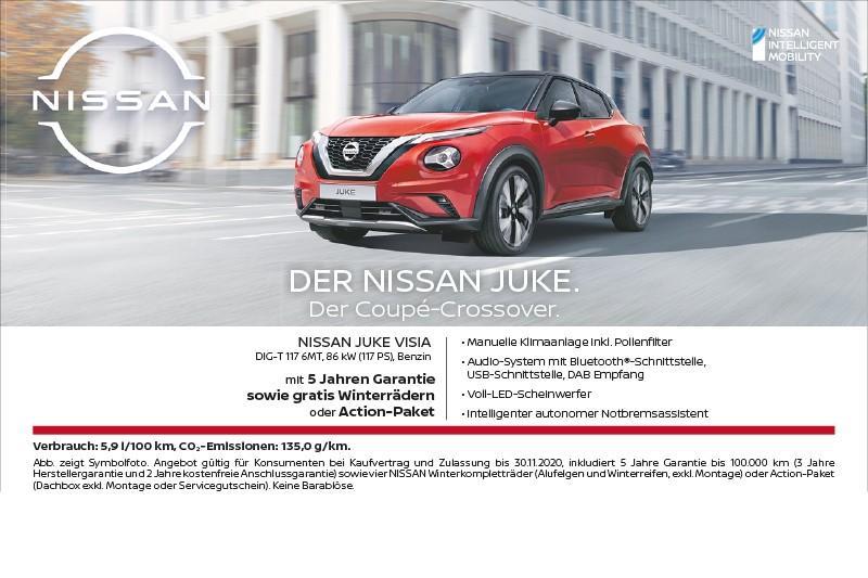 Nissan Juke Aktion 10-2020