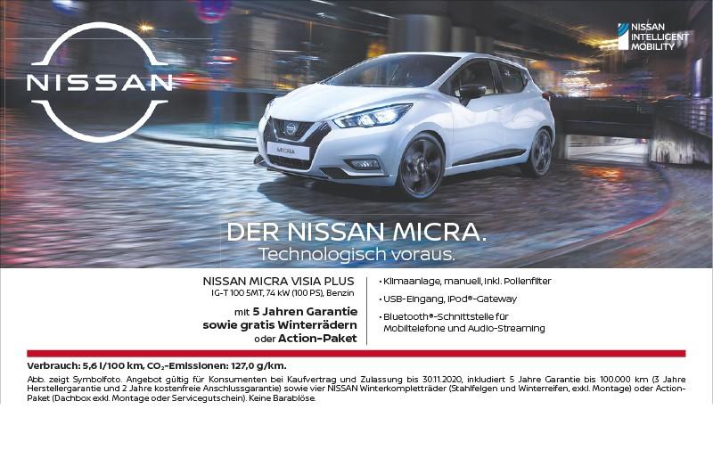 Nissan Micra Aktion 10-2020