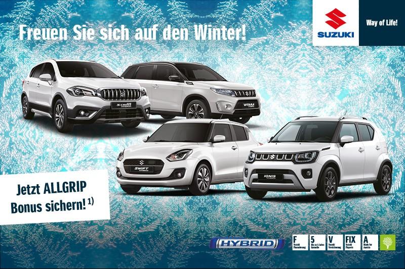 Freuen Sie sich auf den Winter! Jetzt Allgrip-Bonus sichern!