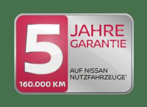 Nissan 5 Jahre Garantie für Nutzfahrzeuge